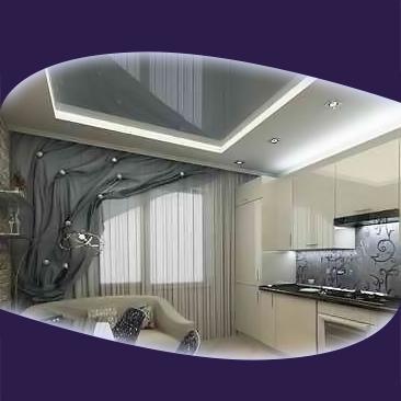 Кухни с опънати тавани